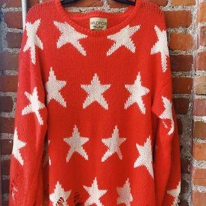 Wild Fox Star Sweater